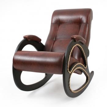 Кресло-качалка: Модель 4, венге обивка Антик Крокодил
