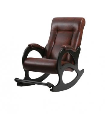 Кресло-качалка: Модель 44, венге с лозой обивка Антик Крокодил