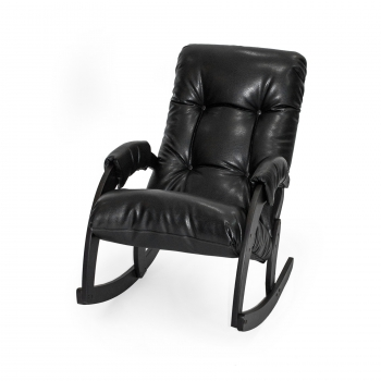Кресло-качалка: Модель 67, венге обивка Vegas Lite Black