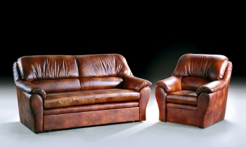 610: 03+04 Большой диван-кровать и кресло для отдыха