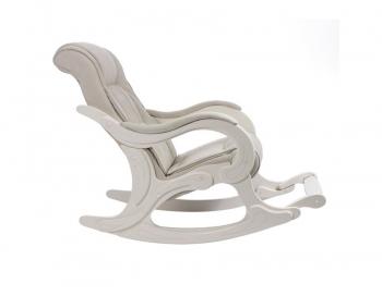 Кресло-качалка: Модель 77, дуб шампань обивка Verona Vanilla