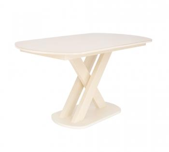 Обеденные группы Leset: Раздвижной стол Leset Лесь цвет кремовый, стекло кремовое 4 стула Бри со столом Лесь